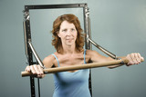 Woman doing a strength workout poster