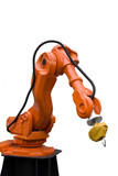 Soldering Robot Arm used in Car Construction poster