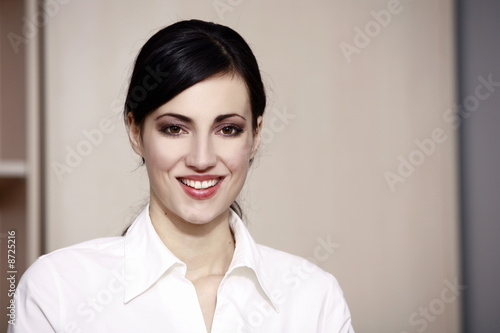 Closeup of businesswoman