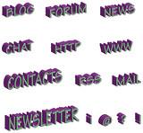 Scritte blog acid poster