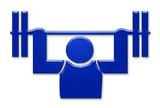 gewichtheben weightlifting symbol poster