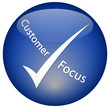 """Customer Focus"" logo Button"