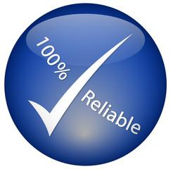 """100% Reliable"" logo"