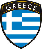greece vector crest flag poster