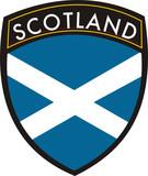 scotland vector crest flag poster
