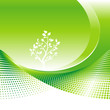 Green Environmental background, vector illustration layers file.