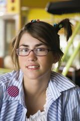 Closeup of female teenager