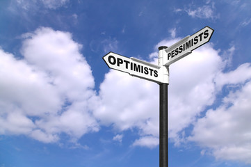Optimists and Pessimists signpost