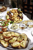 Table of Greek food