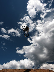 Bike in Flight