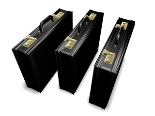 Three Attache Cases