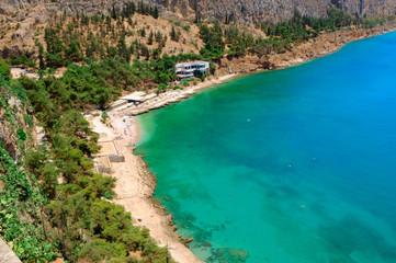 the coast of Peloponnese, Greece