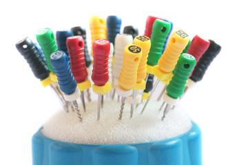Dentist tools.