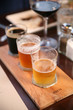 A flight of micro-brew beers