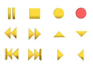 Media control icons