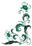 green flower for corner design