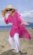 Female senior on the beach