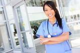 Pretty Asian Nurse at Hospital
