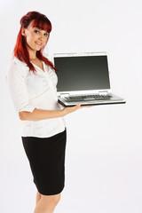 Laptop-Präsentation (seitlich)