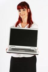 Laptop-Präsentierung