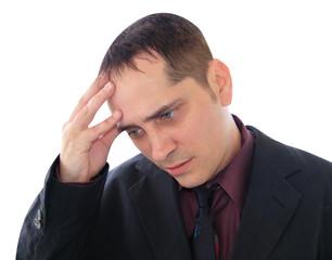 Stress Man Close-Up