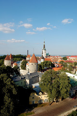 panorama de Tallinn en Estonie