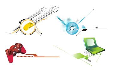 iconos de computacion en vector