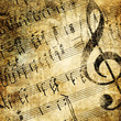 canvas print picture musical background in grunge style