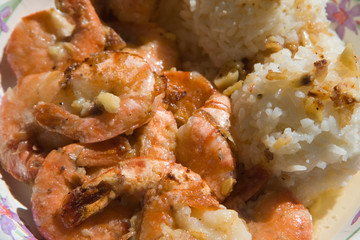 Shrimps and rice