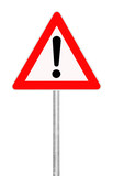 caution-sign on white background poster