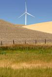 Power generating wind turbine, Rio Vista California poster