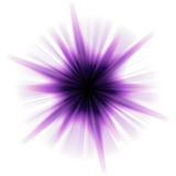 A purple star burst or lens flare over a white background. poster