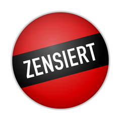 button zensiert