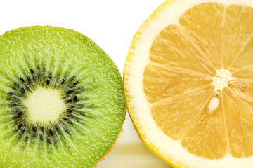 Kiwi Fruit And Lemon
