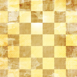 gold chess board with some damage on it poster