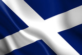 Scottish flag waving in the wind poster