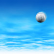 Golf ball in sky