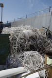 Pile of cables in recycling centre