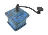 Old blue grinding mill hand grinder poster