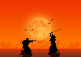 Fototapety Samurai Silhouette