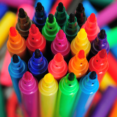 Lots of Brightly Coloured Pens