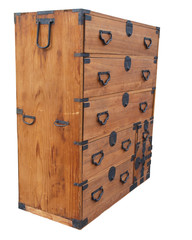 Teak Chest Isolated with clipping path