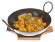 Cauliflower Bhahji in an authentic korai serving dish