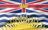 British Columbia Flagge poster