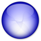 Glassy Button (Purple with abstract motifs) poster