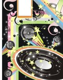 Disco DJ event background retro style poster