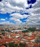The aerial view of picturesque Prague City Czech Republic poster