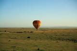 African balloon safari over Masai Mara Kenya. poster