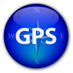 GPS button with compass