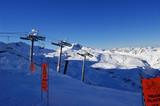 piste de ski non balisée poster